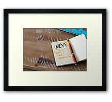 NBA as NEXT BEST ALTERNATIVE Framed Print