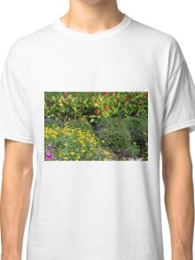 Many colorful flowers in the garden. Classic T-Shirt