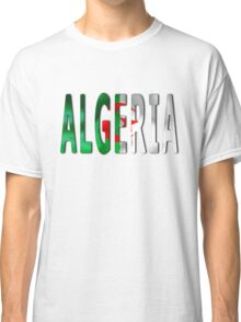 Algeria Word With Flag Texture Classic T-Shirt