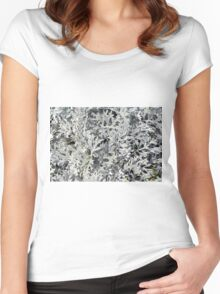 Bush with light green leaves. Women's Fitted Scoop T-Shirt