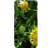 Yellow flowers, natural background. iPhone Case/Skin