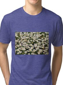Beautiful natural background with small white flowers. Tri-blend T-Shirt