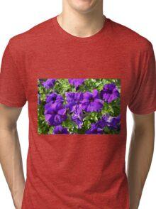 Purple flowers pattern. Tri-blend T-Shirt