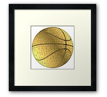 basketball ball Framed Print