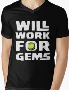 will work for gems Mens V-Neck T-Shirt
