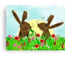 March Hare Spring Time Fun Canvas Print
