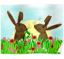 March Hare Spring Time Fun Poster