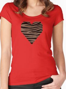 0509 Pastel Brown Tiger Women's Fitted Scoop T-Shirt