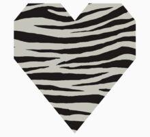 0510 Pastel Gray Tiger Kids Tee