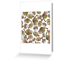 Watercolor Acorns Greeting Card