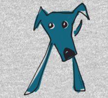Blue dog One Piece - Short Sleeve