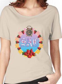 Sixties Daze Strawberry Fan Women's Relaxed Fit T-Shirt