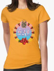 Sixties Daze Strawberry Fan Womens Fitted T-Shirt