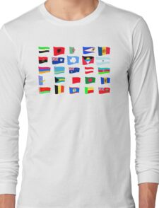 flags of the countries and states Long Sleeve T-Shirt