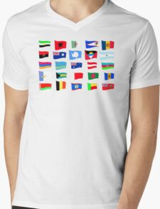 flags of the countries and states Mens V-Neck T-Shirt