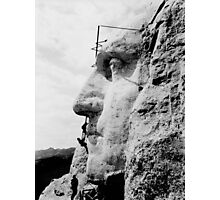 Mount Rushmore Construction Photo Photographic Print
