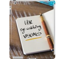USE EYE-CATCHING VISUALS iPad Case/Skin