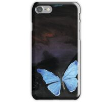 Blue butterfly. iPhone Case/Skin