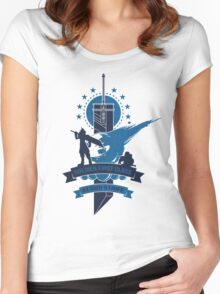 Final Fantasy 7 Cloud Strife Women's Fitted Scoop T-Shirt