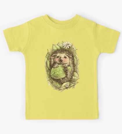 Little hedgehog colored Kids Tee