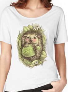 Little hedgehog colored Women's Relaxed Fit T-Shirt