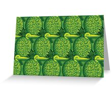 Tropical Delight Yellow Green Greeting Card