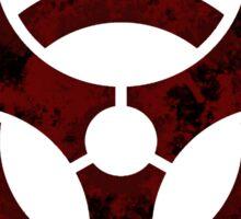 Biohazard symbol 2 Sticker