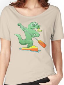 Water monitor competing in a canoe sprint event Women's Relaxed Fit T-Shirt