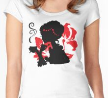 Silhouette of a Young female holding hot coffee Women's Fitted Scoop T-Shirt