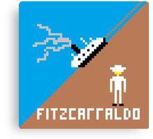 Fitzcarraldo Pixel Canvas Print