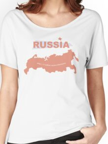 infographics Russia Women's Relaxed Fit T-Shirt