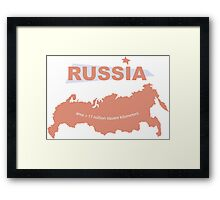 infographics Russia Framed Print