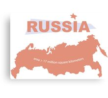 infographics Russia Canvas Print