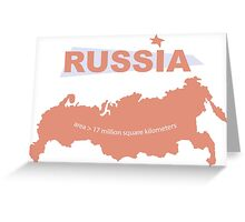 infographics Russia Greeting Card