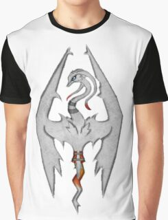 Skyrim LOGO: Reshiram Version Graphic T-Shirt