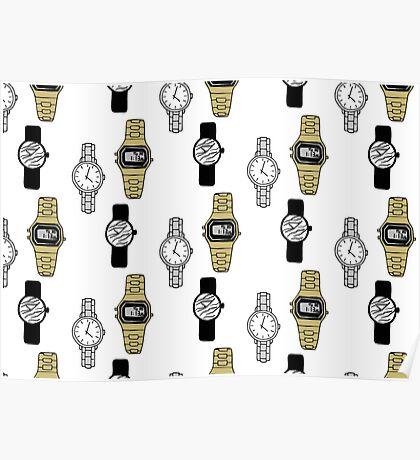Watches Pattern Design Poster