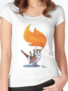 Good Mythical Morning Cockatrice Art by Mr. Ritter Women's Fitted Scoop T-Shirt
