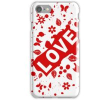Love abstraction iPhone Case/Skin