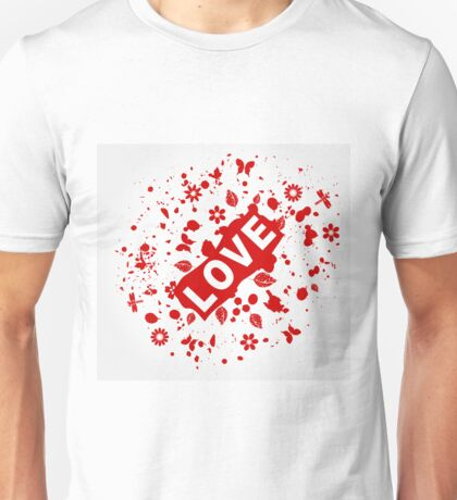 Love abstraction Unisex T-Shirt