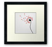 Love dandelion Framed Print