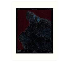 USGS TOPO Map Hawaii HI Hawaii County Sheet 1 349915 1980 100000 Inverted Art Print