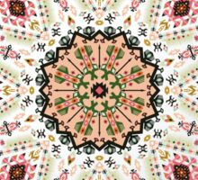 Ornamental round colorful geometric pattern in aztec style Sticker
