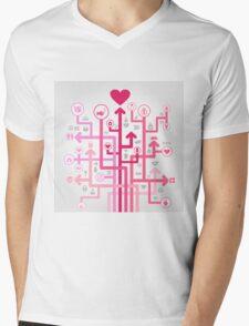 Love of an arrow Mens V-Neck T-Shirt