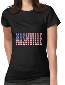 Nashville. Womens Fitted T-Shirt