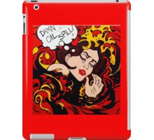 Pop Art wave, drowning in climate change, pollution iPad Case/Skin
