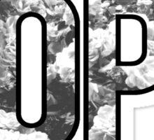 DOPE FLOWERS (BLACK & WHITE VARIANT) Sticker