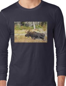 Big Bull Moose, Algonquin Park Long Sleeve T-Shirt