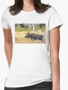 Big Bull Moose, Algonquin Park Womens Fitted T-Shirt