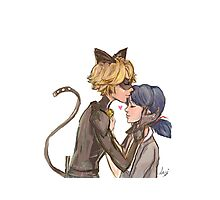 Marinette & Chat Noir Photographic Print