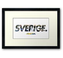 Sverige - Stockholm Framed Print